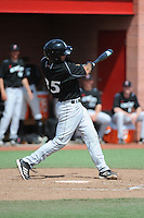 University of Cincinnati Bearcats catcher Russell Clark (35) during a game against the Rutgers University Scarlet Knights at Bainton Field on April 19, 2014 in Piscataway, New Jersey. Rutgers defeated Cincinnati 4-1.  (Tomasso DeRosa/ Four Seam Images)