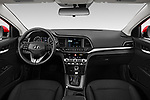 Stock photo of straight dashboard view of 2020 Hyundai Elantra SEL 4 Door Sedan Dashboard