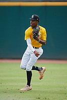 Jalen Fulwood (4) of Wesleyan High School in Johns Creek, GA during the Perfect Game National Showcase at Hoover Metropolitan Stadium on June 17, 2020 in Hoover, Alabama. (Mike Janes/Four Seam Images)
