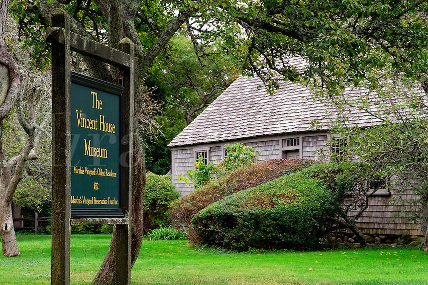 The Vincent House Museum, Edgartown, Martha's Vineyard, Massachusetts, USA