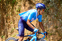 LA UNION - COLOMBIA, 16-02-2019: Richard Carapaz (ECU), Movistar team, durante la quinta etapa del Tour Colombia 2.1 2019 con un recorrido de 176.8 Km, que se corrió con salida y llegada en La Union, Antioquia. / Richard Carapaz (ECU), Movistar team, during the fifth stage of 176.8 km of Tour Colombia 2.1 2019 that ran with start and arrival in La Union, Antioquia.  Photo: VizzorImage / Anderson Bonilla / Cont