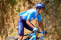 LA UNION - COLOMBIA, 16-02-2019: Richard Carapaz (ECU), Movistar team, durante la quinta etapa del Tour Colombia 2.1 2019 con un recorrido de 176.8 Km, que se corrió con salida y llegada en La Union, Antioquia. / Richard Carapaz (ECU), Movistar team, during the fifth stage of 176.8 km of Tour Colombia 2.1 2019 that ran with start and arrival in La Union, Antioquia.  Photo: VizzorImage / Anderson Bonilla / Cont