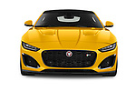 Car photography straight front view of a 2020 Jaguar F-Type R 2 Door Coupe Front View