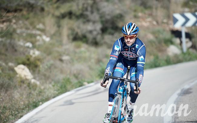 Antoine Demoitié (BEL/Wanty-Groupe Gobert)<br /> <br /> Pro Cycling Team Wanty-Groupe Gobert <br /> <br /> Pre-season Training Camp, january 2016