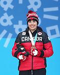 Alana Ramsay, PyeongChang 2018 - Para Alpine Skiing // Ski para-alpin.<br /> Alana Ramsay collects her bronze medal // Alana Ramsay remporte sa médaille de bronze. 14/03/2018.