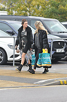 Chloe Simms carries poundland shopping <br /> arriving for filming for the Towie Diwali party at sugar hut brentwood essex <br /> <br /> ©Richard Open snappers