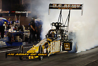 Apr 7, 2006; Las Vegas, NV, USA; NHRA Top Fuel driver Tony Schumacher does a burnout in the US Army dragster during qualifying for the Summitracing.com Nationals at Las Vegas Motor Speedway in Las Vegas, NV. Mandatory Credit: Mark J. Rebilas