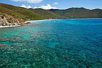 Aerial view of Reef Bay<br /> Virgin Islands National Park<br /> St. John<br /> U.S. Virgin Islands