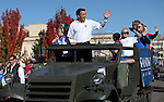 Nevada Gov. Brian Sandoval rides in the 75th annual Nevada Day parade in Carson City, Nev., on Saturday, Oct. 26, 2013.<br /> Photo by Cathleen Allison