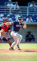 Boston Red Sox Greg Blosser (47) during Spring Training 1993 at City of Palms Park in Fort Myers, Florida.  (MJA/Four Seam Images)