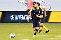 KANSAS CITY, KS - OCTOBER 11: Alex Muyl #29 of Nashville SC with the ball during a game between Nashville SC and Sporting Kansas City at Children's Mercy Park on October 11, 2020 in Kansas City, Kansas.