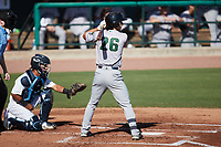 Stephen Paolini (26) of the Augusta GreenJackets at bat against the Charleston RiverDogs at Joseph P. Riley, Jr. Park on June 27, 2021 in Charleston, South Carolina. (Brian Westerholt/Four Seam Images)