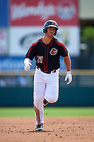 Rochester Red Wings right fielder Daniel Palka (37) running the bases during a game against the Durham Bulls on July 20, 2016 at Frontier Field in Rochester, New York.  Rochester defeated Durham 6-2.  (Mike Janes/Four Seam Images)