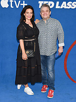 """15 July 2021 - West Hollywood, California - Meredith Salenger, Patton Oswalt. Apple's """"Ted Lasso"""" Season 2 Premiere held at the Pacific Design Center. Photo Credit: Billy Bennight/AdMedia"""