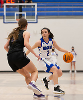 Aubrey Treadwell (2) of Rogers looking for open player at King Arena, Rogers, AR January 8, 2021 / Special to NWA Democrat-Gazette/ David Beach