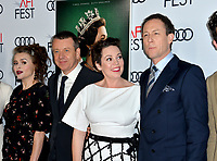 """LOS ANGELES, USA. November 17, 2019: Helena Bonham Carter , Peter Morgan, Olivia Colman & Tobias Menzies  at the gala screening for """"The Crown"""" as part of the AFI Fest 2019 at the TCL Chinese Theatre.<br /> Picture: Paul Smith/Featureflash"""
