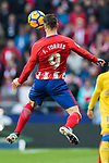 Fernando Torres of Atletico de Madrid heads the ball during the La Liga 2017-18 match between Atletico de Madrid and UD Las Palmas at Wanda Metropolitano on January 28 2018 in Madrid, Spain. Photo by Diego Souto / Power Sport Images