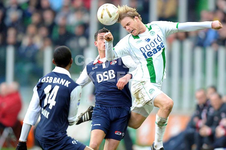 fc groningen - az eredivisie seizoen 2007-2008 17-02-2008 kopbal stenman.fotograaf Jan Kanning *** Local Caption ***