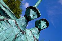 Deutschland, Hamburg, Denkmal Maritim von Gerhard Brandes auf em Altonaer Balkon