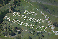 aerial photograph South San Francisco, San Mateo county, California