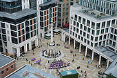 Paternoster Square, City of London, owned by the Mitsubishi Estate Company.