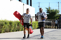 San Jose, CA - Wednesday June 28, 2017: Quincy Amarikwa, Marvell Wynne prior to a U.S. Open Cup Round of 16 match between the San Jose Earthquakes and the Seattle Sounders FC at Avaya Stadium.