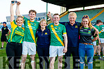 Sarah, Robert, Geraldine, Daniel, Gerard and Laura Collins, cheering on Kilmoyley after winning the Senior Hurling Final at Austin Park, Tralee on Sunday last.