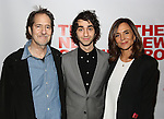 """Michael Wolff, Alex Wolff and Polly Draper attends the Opening Night of The New Group World Premiere of """"All The Fine Boys"""" at the The Green Fig Urban Eatery on March 1, 2017 in New York City."""
