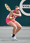 April 6,2016:   Belinda Bencic (SUI) loses to Elena Vesnina (RUS) 6-1, 6-1 at the Volvo Car Open being played at Family Circle Tennis Center in Charleston, South Carolina.