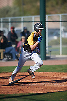 Christopher Broadbent (16) of Sky View High School in Richmond, Utah during the Baseball Factory All-America Pre-Season Tournament, powered by Under Armour, on January 13, 2018 at Sloan Park Complex in Mesa, Arizona.  (Zachary Lucy/Four Seam Images)