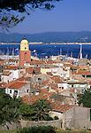 France, Côte d'Azur, St. Tropez: View of Town | Frankreich, Côte d'Azur, St. Tropez: Stadtansicht