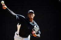 Feb 23, 2010; Tampa, FL, USA; New York Yankees  pitcher Ivan Nova (75) during  team workout at George M. Steinbrenner Field. Mandatory Credit: Tomasso De Rosa