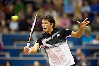 20-2-08, Netherlands, Rotterdam ABNAMROWTT 2008,  Robin Haase in gevecht tegen Andy Murray.