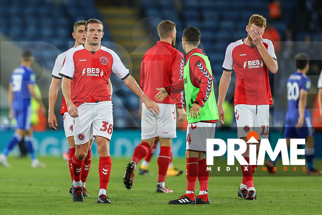 James Wallace of Fleetwood Town (38) after the English League Cup Round 2 Group North match between Leicester City and Fleetwood Town at the King Power Stadium, Leicester, England on 28 August 2018. Photo by David Horn.