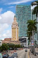 "Miami, Florida.  Freedom Tower, the Cuban ""Ellis Island"", on Biscayne Boulevard."