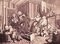 William Hogarth:  A Harlot's Progress, Plate 5.  Reference only.
