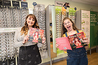Lowrie Moore (right) at the launch of her new book 'Princess Rose & the Golden Glasses' held at Specsavers in Beeston, Nottingham. She is pictured with Illustrator Natalie Owen.