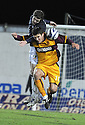 15/11/2008  Copyright Pic: James Stewart.File Name : sct_jspa13_falkirk_v_motherwell.DARREN BARR HEADS CLEAR FROM JOHN SUTTON.James Stewart Photo Agency 19 Carronlea Drive, Falkirk. FK2 8DN      Vat Reg No. 607 6932 25.Studio      : +44 (0)1324 611191 .Mobile      : +44 (0)7721 416997.E-mail  :  jim@jspa.co.uk.If you require further information then contact Jim Stewart on any of the numbers above.........