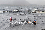 "Sisters  Tina Johnson & Rosemary Browne brave the wild and windy weather on Saturday to swim in the ""Caragh Lake Swimming Pool"""