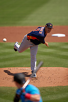 Houston Astros pitcher Zack Greinke (21) during a Major League Spring Training game against the Miami Marlins on March 21, 2021 at Roger Dean Stadium in Jupiter, Florida.  (Mike Janes/Four Seam Images)