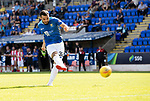 St Johnstone v East Fife…14.07.18…  McDiarmid Park    League Cup<br />Tomy Watt scores from the spot during the penalty shootout<br />Picture by Graeme Hart. <br />Copyright Perthshire Picture Agency<br />Tel: 01738 623350  Mobile: 07990 594431
