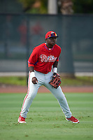 Philadelphia Phillies Cornelius Randolph (2) during an instructional league game against the Toronto Blue Jays on October 3, 2015 at the Carpenter Complex in Clearwater, Florida.  (Mike Janes/Four Seam Images)