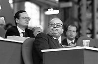 - Milano, Bettino Craxi, segretario del PSI (Partito Socialista Italiano)  al 45° congresso del PSI  (Maggio 1989)<br /> <br /> - Milan, Bettino Craxi, secretary of the PSI (Italian Socialist Party)  at the 45th congress of the PSI (May 1989)