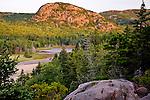 Acadia's Beehive Mountain at sunrise, Acadia National Park, ME, USA