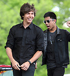 Cameron Quiseng and Michael Martinez of the pop band Allstar Weekend perform at Rockford Park in Wilmington, Delaware May 7, 2011. .Copyright EML/Rockinexposures.com.