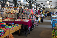 French Quarter, New Orleans, Louisiana.  Gifts and Souvenirs of Jewelry and Clothing for Sale in the French Market.