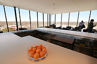 A view Friday feb. 21, 2020 from The Momentary's bar that over looks Bentonville.The Momentary is owned by Crystal Bridges and is a place for visual and performing arts, including music, film, culinary, and more.<br /> (NWA Democrat-Gazette/Spencer Tirey)