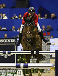 OMAHA, NEBRASKA - MAR 30: Gabor Szabo Jr. rides Timpex Bolcsesz during the FEI World Cup Jumping Final I at the CenturyLink Center on March 30, 2017 in Omaha, Nebraska. (Photo by Taylor Pence/Eclipse Sportswire/Getty Images)