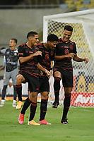Rio de Janeiro (RJ), 06/03/2021 - Macaé-Flamengo - Rodrigo Muniz  jogador do Flamengo comemora seu gol,durante partida contra o Macaé,válida pela 2ª rodada da Taça Guanabara,realizada no Estádio Jornalista Mário Filho (Maracanã), na zona norte do Rio de Janeiro, neste sábado (06).