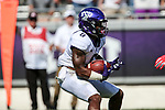 TCU Horned Frogs running back Darius Anderson (6) in action during the game between the SMU Mustangs and the TCU Horned Frogs at the Amon G. Carter Stadium in Fort Worth, Texas.